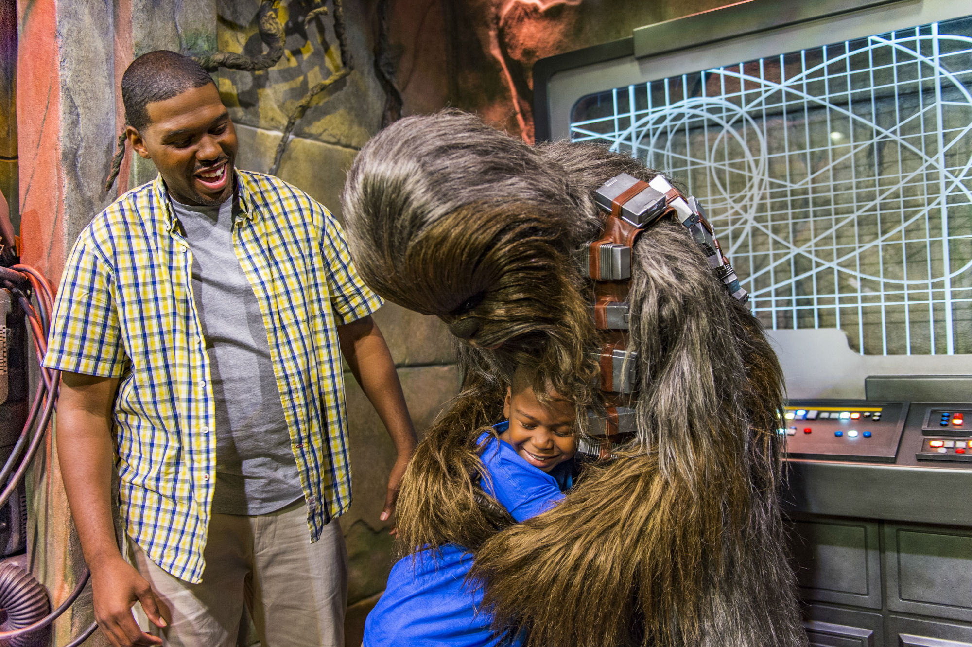 Meet iconic characters like Chewbacca at Star Wars: Galaxy's Edge is set to open in summer 2019 at Disneyland® Resort.