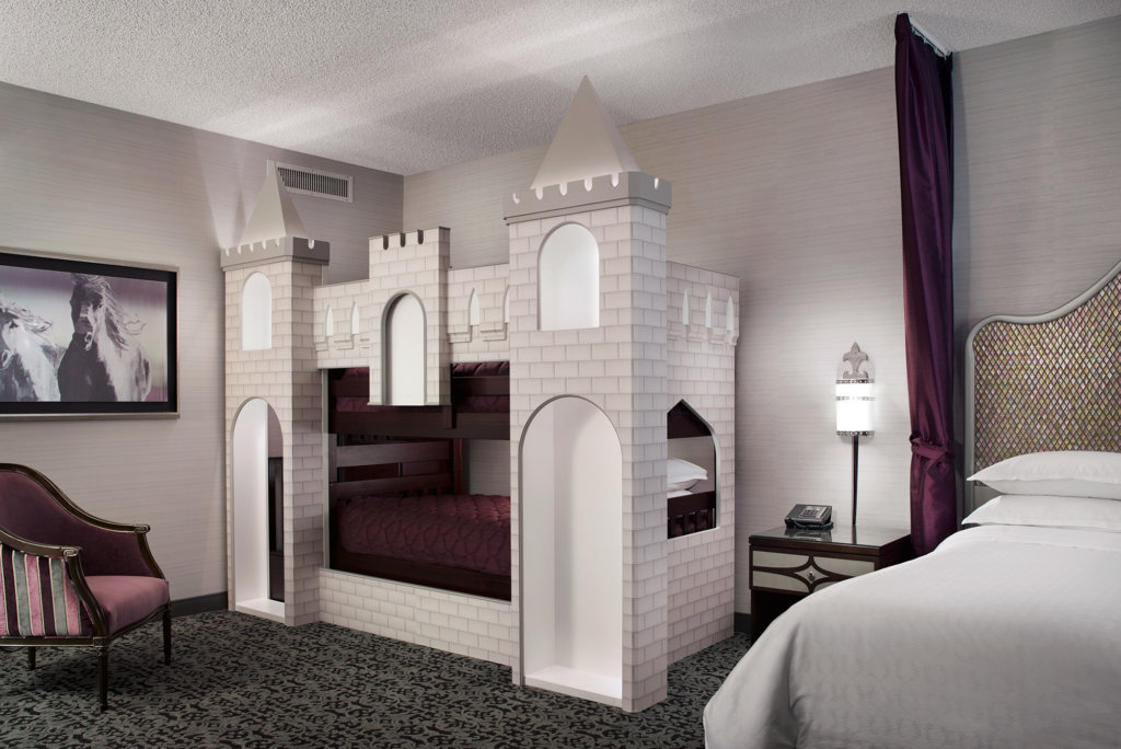 Castle-themed hotel suite in Anaheim, California