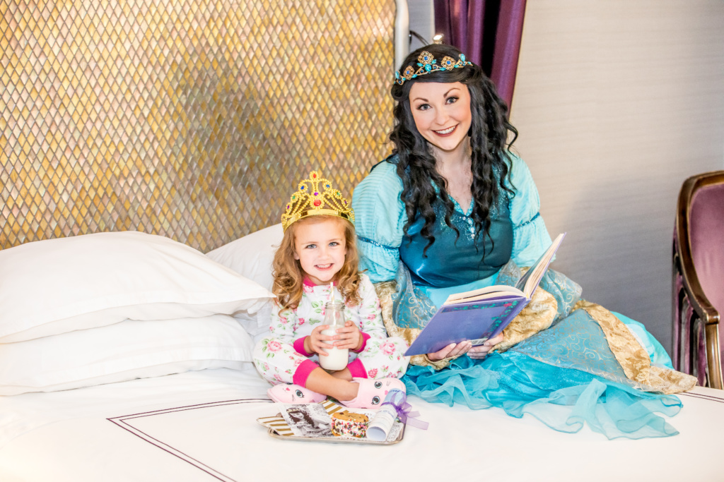 Anaheim Majestic Hotel offers its youngest guests a royal in room story time visit with Princess Corinne through new bedtime or wake up appointments.