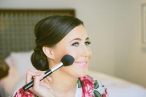 Bride preparing makeup